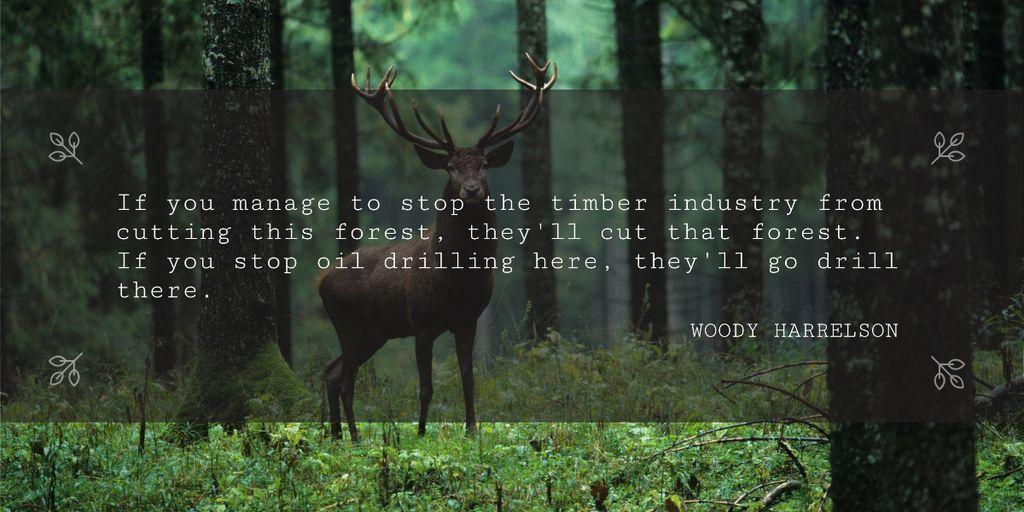 Nature saving quote poster — Maak een ontwerp
