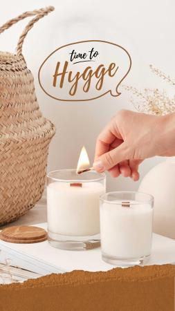 Cozy Atmosphere with Aromatic Candles Instagram Video Story Design Template