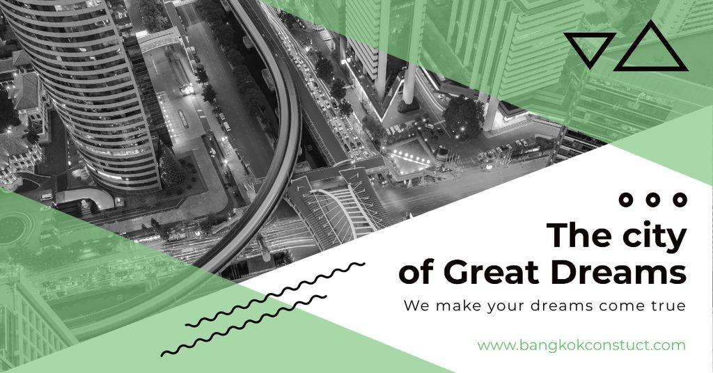 City View on Black and White — ein Design erstellen