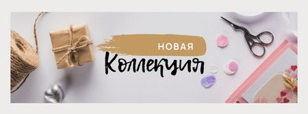 New Collection with Handmade Tools Facebook cover – шаблон для дизайна