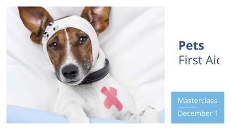 Dog in Animal Hospital FB event cover Modelo de Design