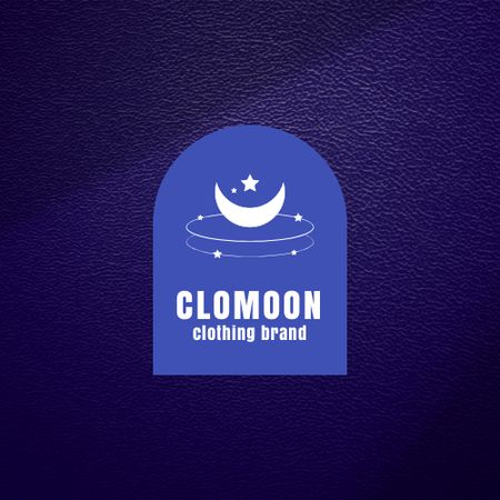 Clothing Brand Ad with Moon and Star Illustration Logo – шаблон для дизайну