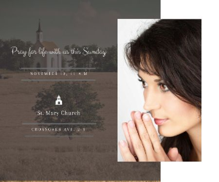 Template di design St. Mary Church Medium Rectangle