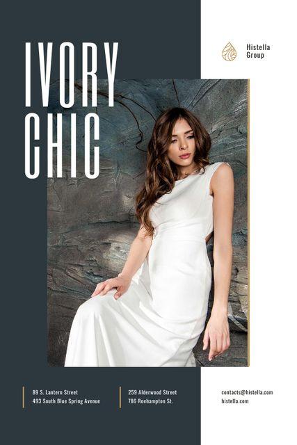Young Woman in Tender white Dress Tumblr – шаблон для дизайну