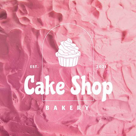 Bakery Ad with Cute Cupcake Logo – шаблон для дизайна