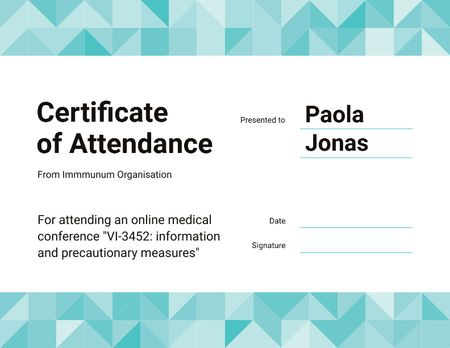 Science Online Conference attendance Certificate Design Template