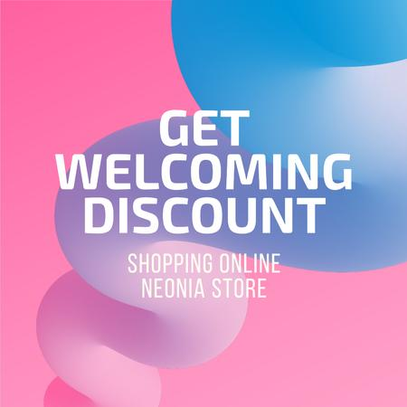 Discount Offer in Colorful background Instagram Design Template