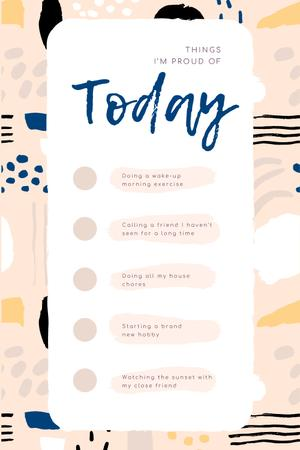 Designvorlage Check list for Day to be Proud of für Pinterest