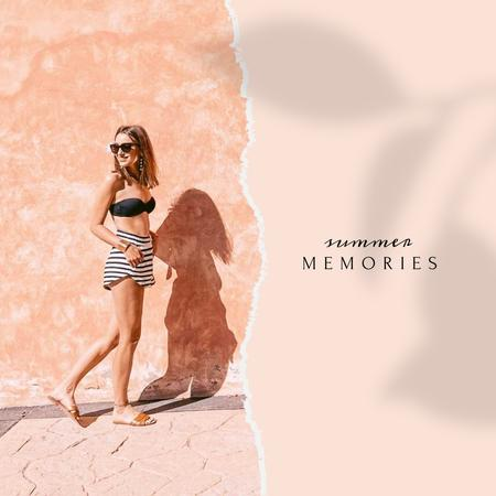 Plantilla de diseño de Stylish Girl in Summer clothes Instagram