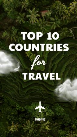 Modèle de visuel Travel Inspiration with Jungles Landscape - Instagram Story