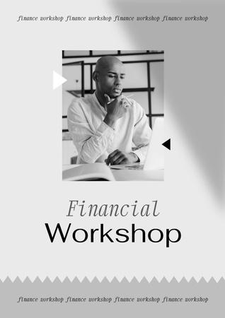 Financial Workshop promotion with Confident Man Poster – шаблон для дизайна