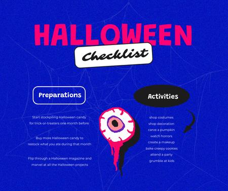 Szablon projektu Halloween Preparation Ad with Scary Eye Facebook