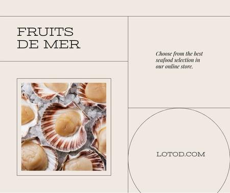 Plantilla de diseño de Online Seafood Store Ad Facebook