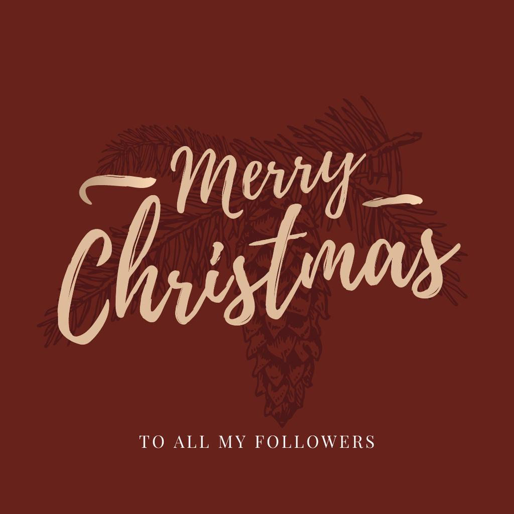 Christmas greeting with Fir Tree — Create a Design