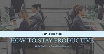 Productivity Tips Colleagues Working in Office