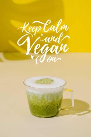 Platilla de diseño Vegan Lifestyle concept with Green Smoothie Pinterest