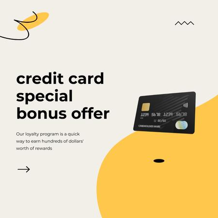 Plantilla de diseño de Credit Card with loyalty program Animated Post