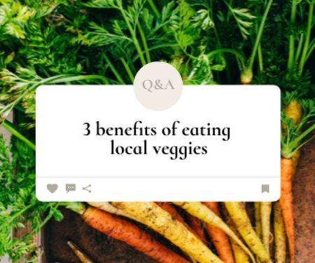 Designvorlage Local Veggies Ad with Fresh Carrot für Large Rectangle