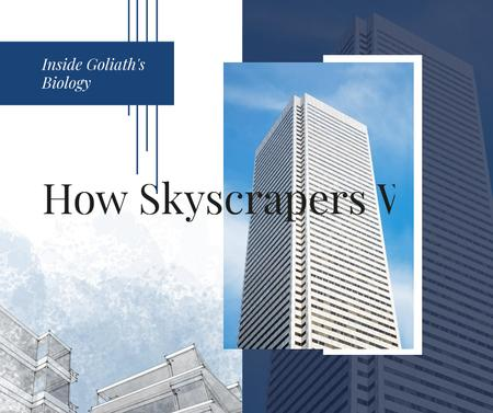 Modern glass Skyscraper building Facebook – шаблон для дизайну