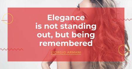 Citation about Elegance with Attractive Woman Facebook AD – шаблон для дизайну