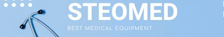 Template di design Medical Equipment ad in blue LinkedIn Cover