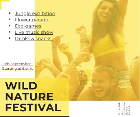 Wild nature festival Large Rectangle – шаблон для дизайну
