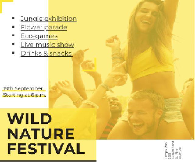 Modèle de visuel Wild nature festival - Large Rectangle