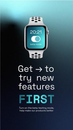 Ontwerpsjabloon van Instagram Story van Smart Watches Startup Idea Ad