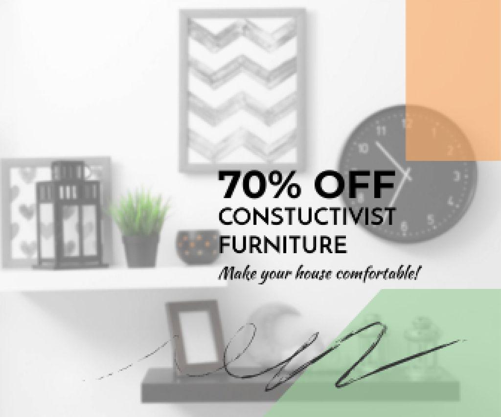Modèle de visuel Constructivist furniture sale - Large Rectangle