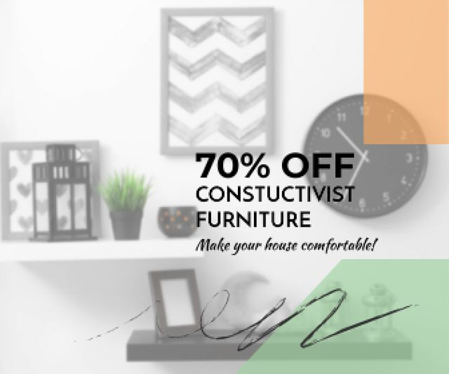Constructivist furniture sale Large Rectangle Modelo de Design