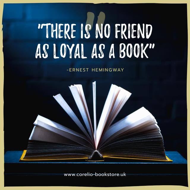 Reading Quote Open Book Pages Instagram AD – шаблон для дизайну
