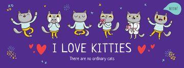 Cute kitties having fun