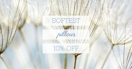 Ontwerpsjabloon van Facebook AD van Softest Pillows Ad Tender Dandelion Seeds