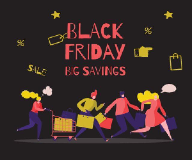 Ontwerpsjabloon van Medium Rectangle van People shopping on sale