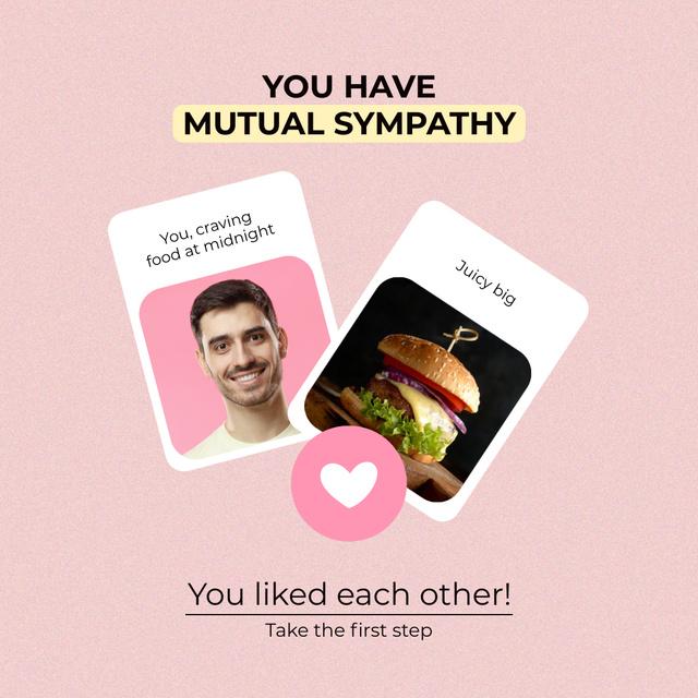 Szablon projektu Funny Joke about Love of Fast Food Instagram