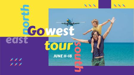 Designvorlage Tour offer for Travel with kids für FB event cover