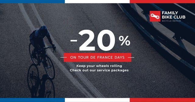 Tour de France Family bike club discounts Facebook AD – шаблон для дизайну