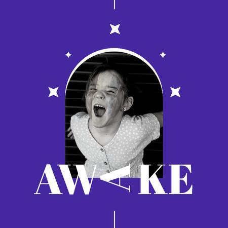 Plantilla de diseño de Cute Funny Little Girl yawns Instagram