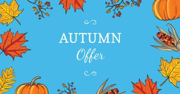 Autumn Offer in Leaves Frame