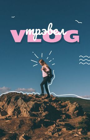 Outdoor Trip Inspiration Traveler on Cliff IGTV Cover – шаблон для дизайна