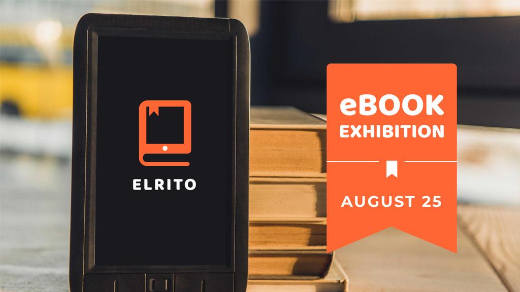 Modèle de visuel Gadgets Store E-books Sale - FB event cover