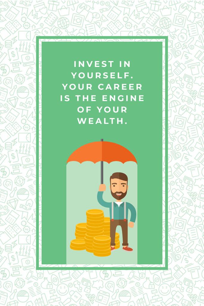 Citation about personal invest Pinterest – шаблон для дизайна