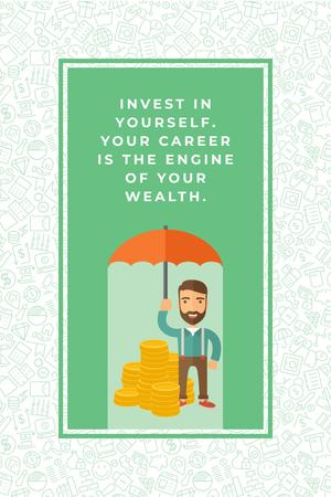 Plantilla de diseño de Citation about personal invest Pinterest