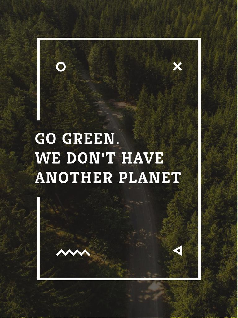 Ecology Quote with Forest Road View — Создать дизайн