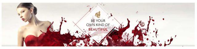 Ontwerpsjabloon van Twitter van Citation for girls about beauty