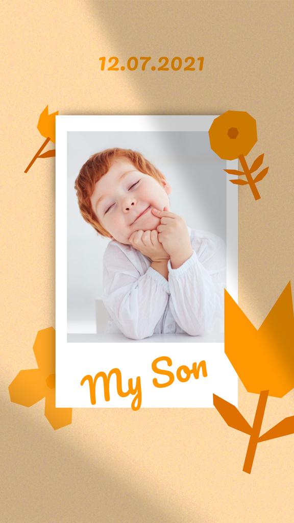 Plantilla de diseño de Birthday Announcement with Cute Little Boy Instagram Story