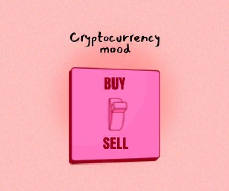 Ontwerpsjabloon van Medium Rectangle van Funny Joke about Cryptocurrency