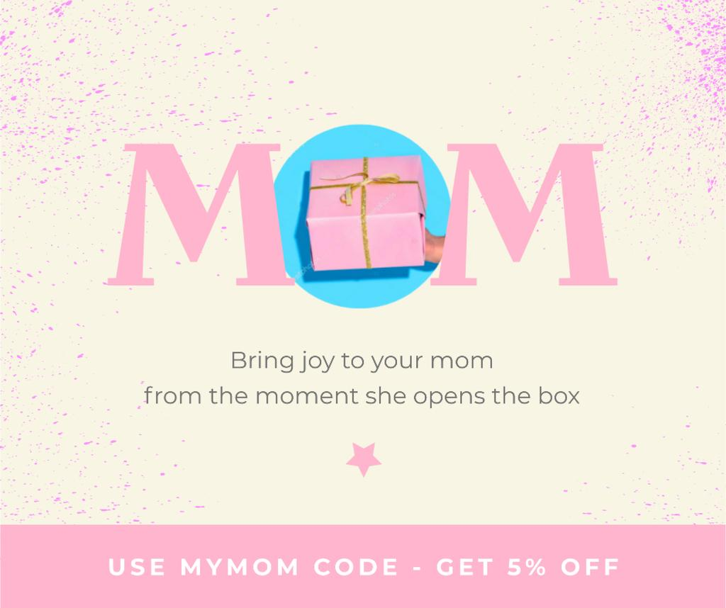Gift Offer on Mother's Day in Pink — ein Design erstellen