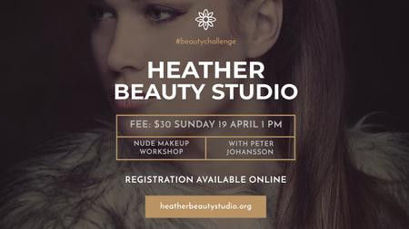 Template di design Beauty Studio Ad with Attractive Woman Youtube