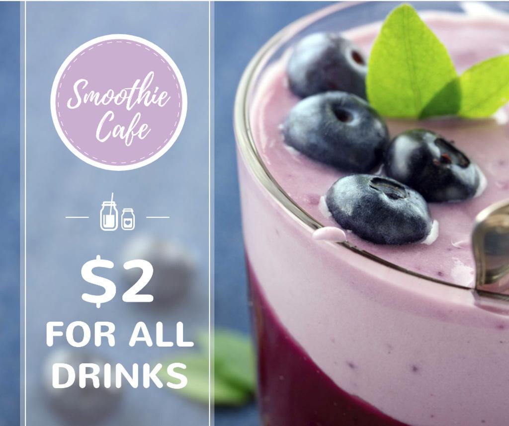 Smoothie Cafe Advertisement Blueberries Drink — Maak een ontwerp